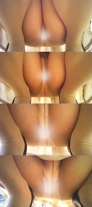ガチ仕掛け撮り② ・パンストM字最高! OLさん、 陳列棚に向かってしゃがんじゃうとパンツ丸見えですよ?