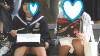 セーラー服&白パンは最強の組み合わせ!!(FHD)お座りCちゃん!!大変です!!パンツが見えてますよ特別編5