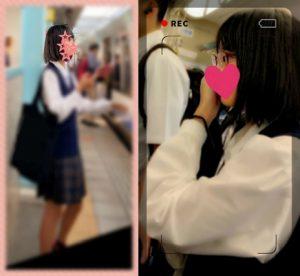 【眼鏡っ娘】スレンダー制服ロリメガネJK逆さ撮り【顔出し】
