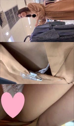 【店員乳首パンチラ】トップモデル級の可愛い店員さんの可愛い両乳首をドアップで撮影!!wそしてほぼTバック状態のパンティ撮影までw