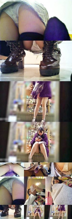 [至高のパンチラ]パンストOL・ニーハイ女子・超ミニスカ座り じっくりと 7分25秒