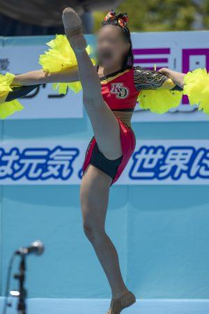 【写真高画質】チア37 世界を元気にするスレンダーチアのラインダンス!