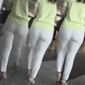 白い巨尻の誘惑*Pのラインを見せつけるドエロいスレンダー淑女を見た