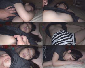 【家庭内で睡●姦】深夜3時頃、Fカップ清純妹の自部屋で【前回は家庭内盗撮】