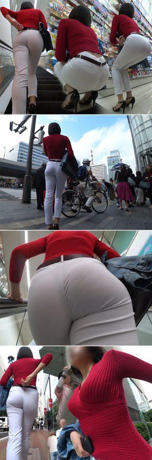 【超高画質】現役キャビンアテンダント!極上スレンダーボディ美女の白スキニーヒップにウットリです♪