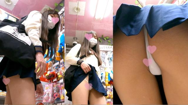 撮影バレからの見せつけ!にっこり笑顔でスカートめくってエロパンツ見せてくれる○K!_TPC-033